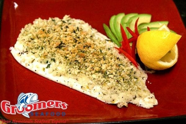 Lemon Basil Encrusted Flounder