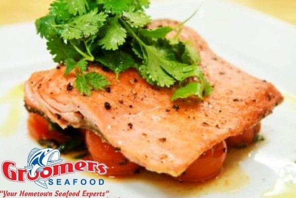 Steelhead Trout with Blistering Tomatoes