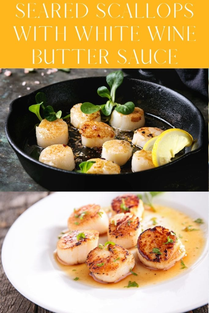 Seared Scallops With White Wine Butter Sauce