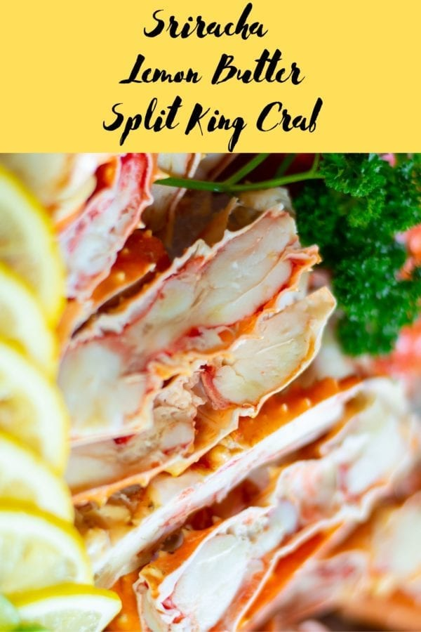 Sriracha Lemon Butter Split King Crab